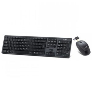 Teclado + Mouse Genius Wireless SlimStar 8000 USB Preto