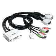 TK-214I TRENDnet Chaveador KVM (teclado+video+mouse) USB com 2 portas, DVI, com Áudio e Cabos KVM Inclusos