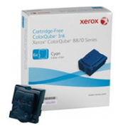 Xerox Caixa com 6 Bastoes de Cera Solida Cor CIANO CQ 8870/8580 8870/8580 Cx com 6 bastões 17301 108R00959