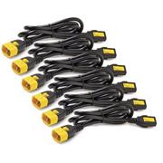 APC Kit com 6x Cabos de Energia (c/travamento) IEC-320 C13 para IEC-320 C14 (100V-230V