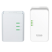 D-Link Kit Extensor (DHP-308AV) e Repetidor Wireless Powerline (via rede eletrica) Velocidade (Powerline: 500Mbps /Wi-Fi 2.4GHz: 300Mbps)