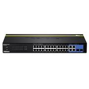 TRENDnet Switch 24x 10/100Mbps RJ45 + 2x Gigabit RJ47