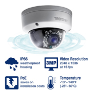 TRENDnet Camera Video IP DOMO 3MP Full HD