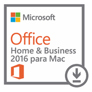 Microsoft Office Home and Business 2016 para Mac (All languages) - licenca 1 usuario (Download)