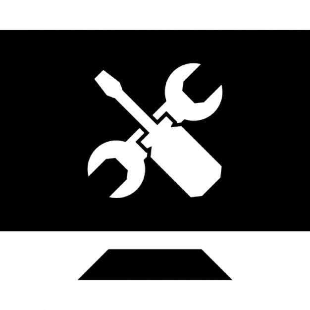 tela de comutador com chave de fenda